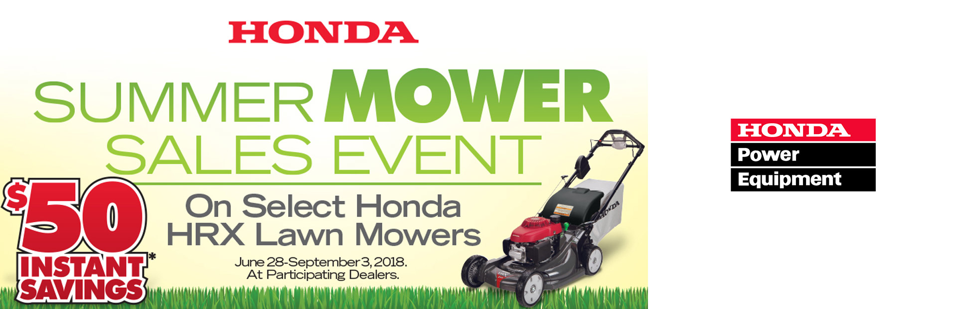 Honda Power Equipment: Honda Summer Mower Sales Event